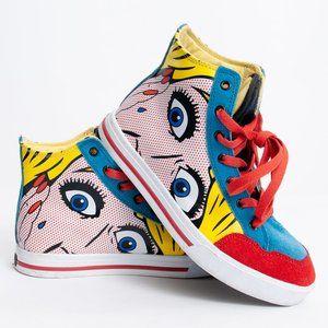 Silvano Hi Top Girls Will Be Girls Comic Sneakers